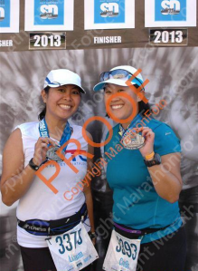 2013 San Diego Half Marathon FINISHERS...BOTH of us PR'd!