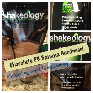 Chocolate Peanut Butter Banana Shakeology is my FAVORITE Shakeology recipe EVER.