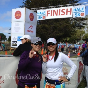 Lianna and myself at the 2012 SJR Bay Area Finish Line